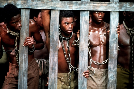 ROOTS, Levar Burton, 1977, slaves in shackles