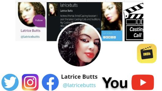 Latrice Butts Social Media Logo With IMDB