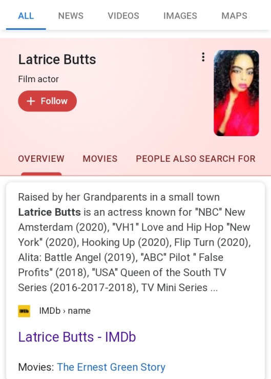 Latrice Butts Actress Profile On Google